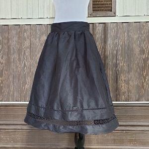 eShakti black midi skirt size M